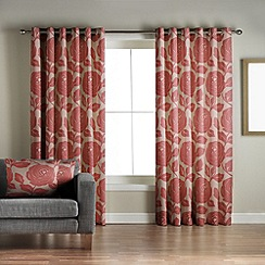 Jeff Banks Home - Monaco Red Lined Eyelet Curtains