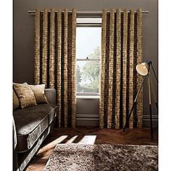 Clarke & Clarke - Naples gold lined eyelet heading curtains