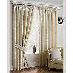 Joshua Thomas - Ivory 'Oregon' fully lined pencil pleat curtains