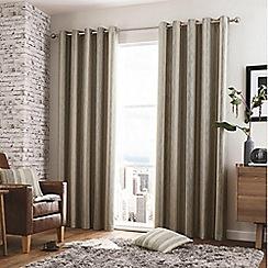 Curtina - Regan Charcoal   Eyelet Heading Curtains