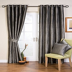 Whiteheads - Ripple Silver Lined Eyelet Curtains