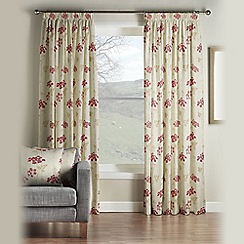 Montgomery - Red 'Salisbury' fully lined pencil pleat curtains