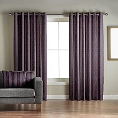 Jeff Banks Home - Sierra Aubergine Lined Eyelet Curtains