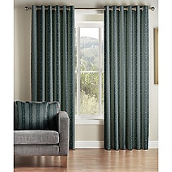 Jeff Banks Home - Sierra Teal Lined Eyelet Curtains