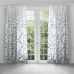 Voyage - Sorong Violet lined pencil pleat heading curtains