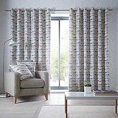 Clarke & Clarke - Tenby 'Ochre' fully lined eyelet curtains