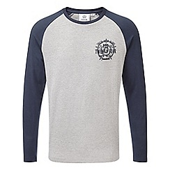 Tog 24 - Light grey navy aike graphic long sleeve t-shirt