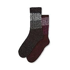 Tog 24 - Multicoloured 2 pack trek socks