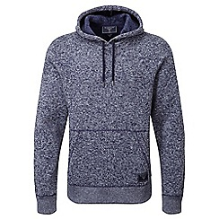 Tog 24 - Navy marl banks tcz 200 knit look fleece hoodie