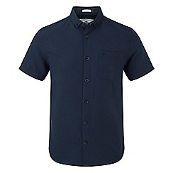 Tog 24 - Navy Botham short sleeve slim fit oxford shirt