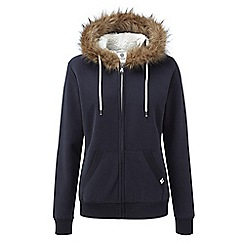Tog 24 - Navy marl clough womens sherpa lined hoody