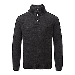 Tog 24 - Black crambe mens button neck jumper