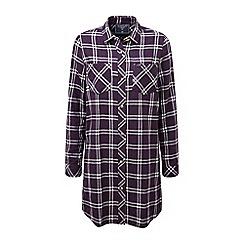 Tog 24 - Plum check dalton double weave long shirt
