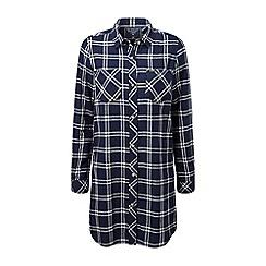 Tog 24 - Navy check dalton double weave long shirt