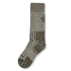 Tog 24 - Dark khaki marl drub merino trek socks