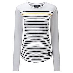 Tog 24 - White stripe fleur deluxe long sleeve t-shirt