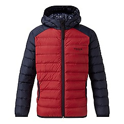 Tog 24 - Chilli red and navy fuse hooded down jacket