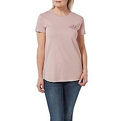 Tog 24 - Chalk Pink Marl Harome Graphic Diamond Print T-Shirt