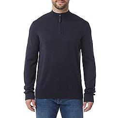 Tog 24 - Navy holmes cashmere mix zip neck jumper