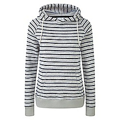 Tog 24 - Oatmeal and navy Lockwood striped marl thermal fleece hoody