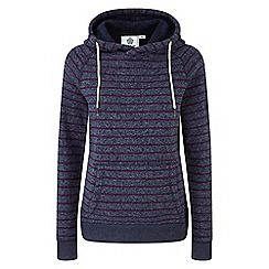 Tog 24 - Navy and purple Lockwood striped marl thermal fleece hoody