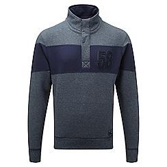 Tog 24 - Dark grey/grey malvern button neck sweatshirt