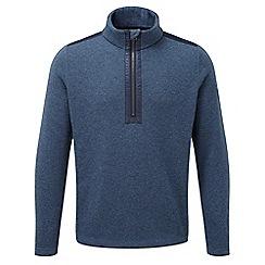 Tog 24 - Navy marl mega tcz wool zip neck