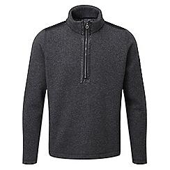 Tog 24 - Dark grey marl mega tcz wool zip neck
