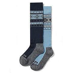 Tog 24 - Navy flake Maribel 2 pack tzc thermal ski socks