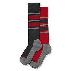 Tog 24 - Multicoloured fire stripe Maribel 2 pack TCZ thermal ski socks