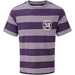 Tog 24 - Plum/plum marl miller deluxe stripe t-shirt