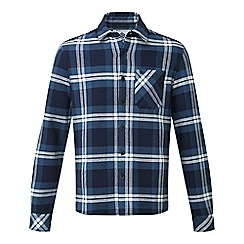 Tog 24 - Faded navy check norman heavy bonded flannel shirt