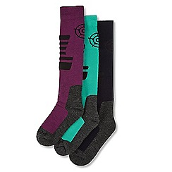 Tog 24 - Muticoloured oberau 3 pack merino ski sock