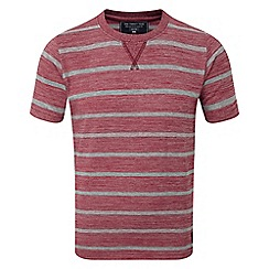 Tog 24 - Boys' red marl strip payton deluxe t-shirt