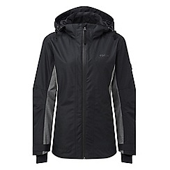 Tog 24 - Black and grey marl piper womens waterproof insulated ski jacket