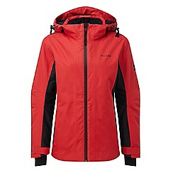 Tog 24 - Rouge red and black piper womens waterproof insulated ski jacket