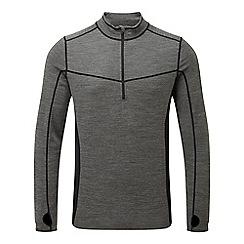 Tog 24 - Grey marl/black recreate tcz merino zip neck