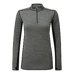 Tog 24 - Grey marl/black recreate TCZ merino zip neck thermal top