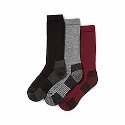 Tog 24 - Black, chilli, dark grey rig ton 3 pack merino trek socks