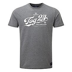 Tog 24 - Dark grey marl roberts t-shirt stamp script