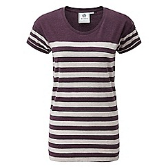 Tog 24 - Purple deep port marl shea stripe deluxe t-shirt