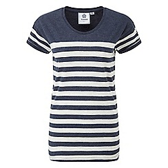 Tog 24 - Navy marl shea stripe deluxe t-shirt