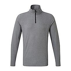 Tog 24 - Grey marl spen TCZ 100 zip neck fleece