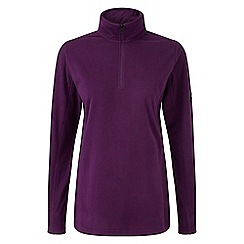 Tog 24 - Dark purple spen zip neck micro fleece