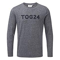 Tog 24 - Navy marl stockton graphic long sleeved t-shirt