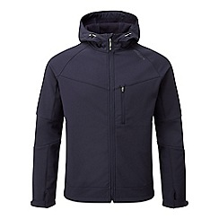 Tog 24 - Navy strategy softshell hooded jacket