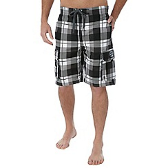 Tog 24 - Black check tonga swimshorts