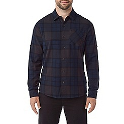 Tog 24 - Navy Wallace mens flannel check shirt