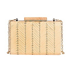 Parfois - Beige trigo party clutch