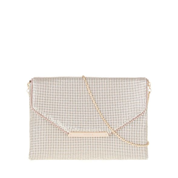 mesh party clutch mini Parfois Gold X6PSRR